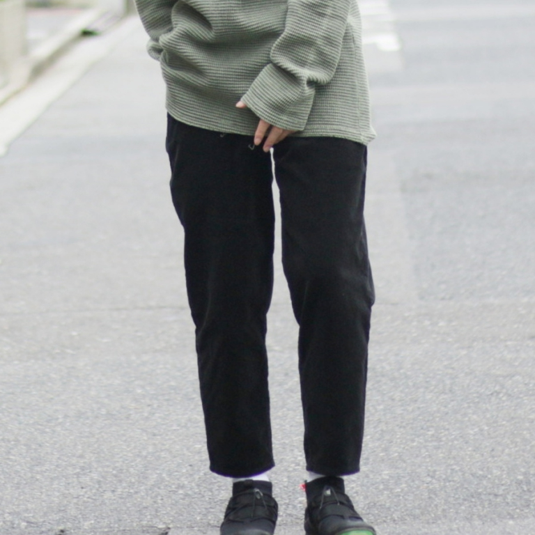 edit-corduroy pants blk