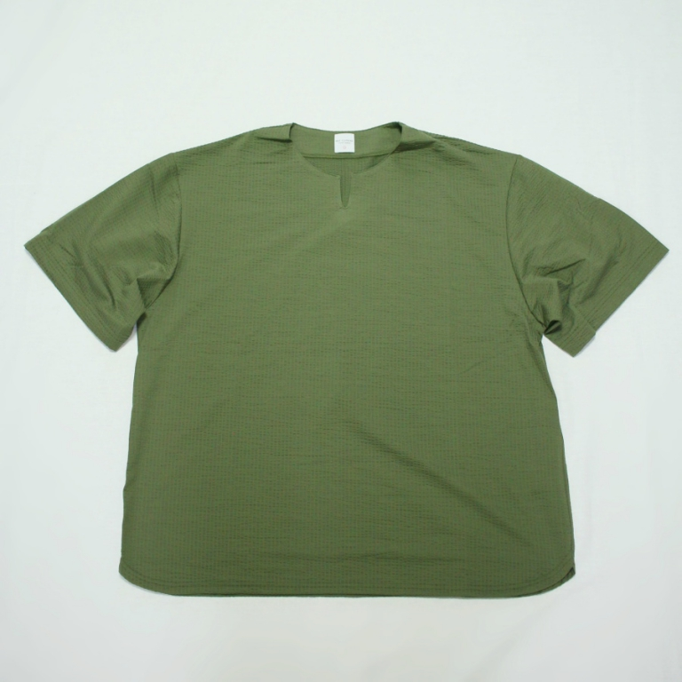 edit-seer sucker stretch tee khaki