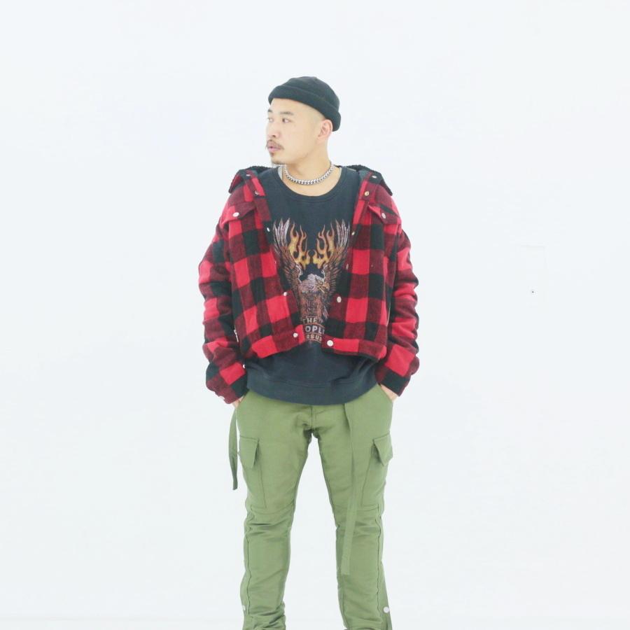 mnml-flannelsherpa jkt